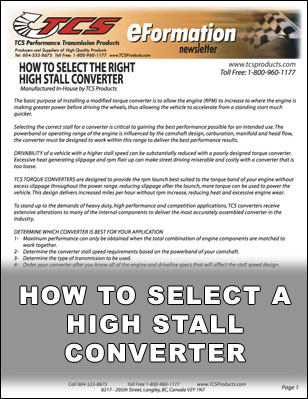 How To Select a High Stall Converter