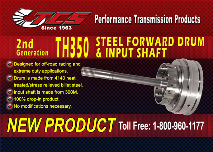 TCS TH350 2nd Gen Drum and Shaft