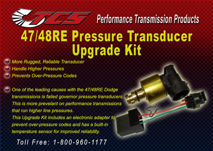 47-48RE Pressure Transducer Upgrade Kit