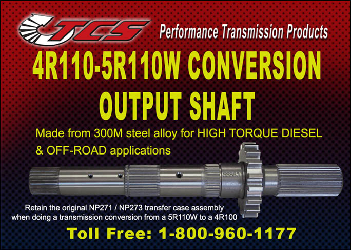 4R100-5R110W Conversion Output Shaft